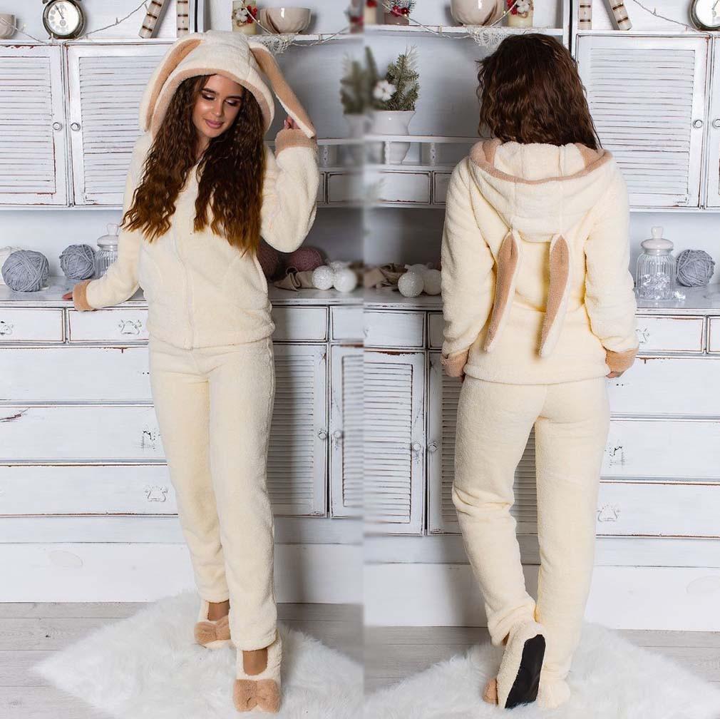 aaf527040e2e Женский махровый домашний костюм 073-1