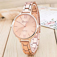 Женские модные классические наручные часы «Geneva» (rose gold)