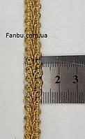 """Золота тасьма """"петля"""" металізована, ширина 1 см, фото 1"""