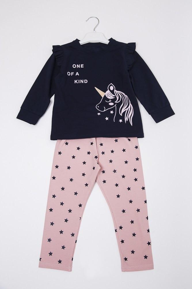 Детская пижама для девочки Единорог, фото 1