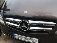 Накладки на решетку радиатора Mercedes Sprinter 2006-2013 (4 шт.нерж.) Carmos