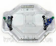 Игровой набор из 2-х волчков BeyBlade с ареной и крышкой c механическими ловушками-роботами TD999, фото 3