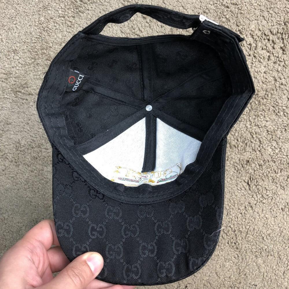 96038f85d84 ... Baseball Hat Gucci Web Logo Square GG Supreme Canvas Black