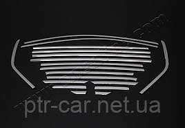 Полная окантовка стекол (18 шт, нерж) - Ford Kuga 2013+/2016+ гг.