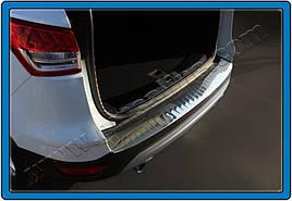 Накладка на задній бампер OmsaLine (нерж.) - Ford Kuga 2013+/2016+ рр.