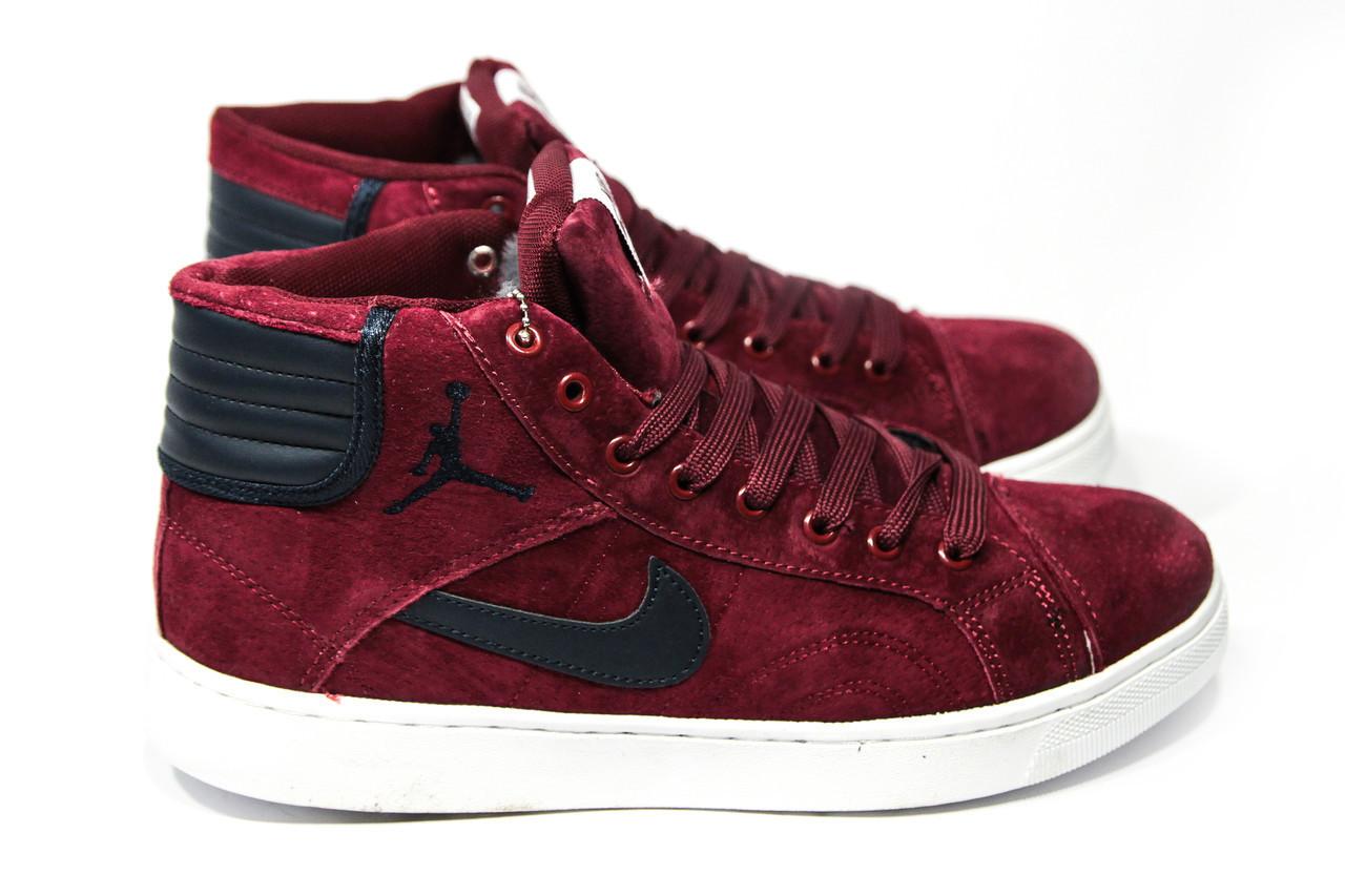 ee26279fad41 Зимние Кроссовки (НА МЕХУ) Мужские Nike Air Jordan 1-092 (реплика ...