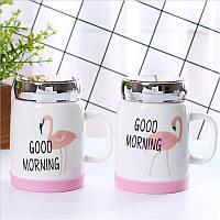 Керамическая чашка Flamingo 490мл. (Фламинго), фото 1
