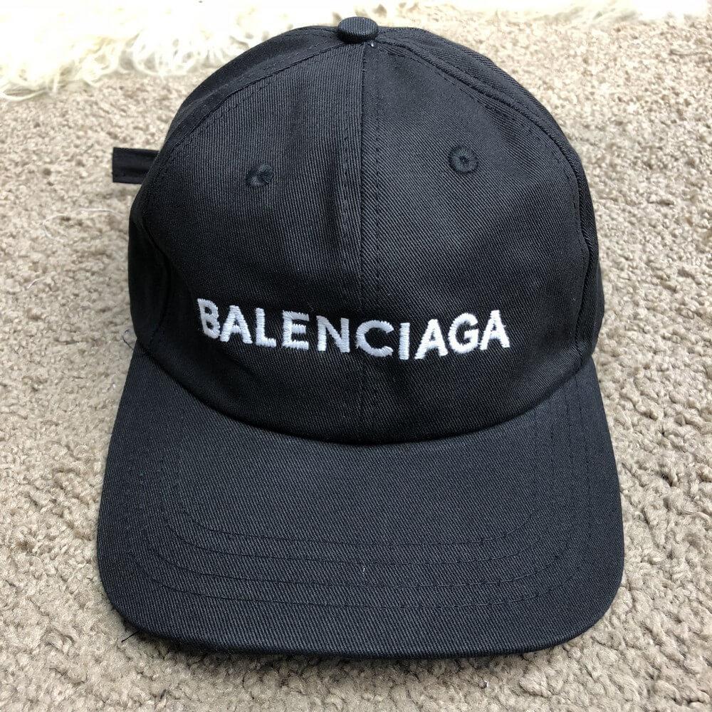Baseball Cap Balenciaga Embroidered Logo Black