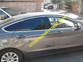 Повна окантовка вікон (12 шт, нерж) - Ford Mondeo 2014+ рр.