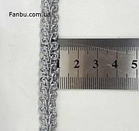 """Серебряная тесьма """"петля"""" металлизированная, ширина 1 см, фото 1"""