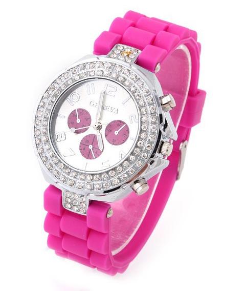 Geneva Кварцевые силиконовые часы наручные