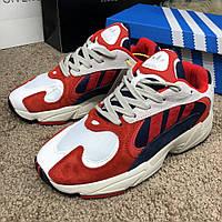 Кросовки Adidas ( Адидас ) Yung-1 Chalk Red/Blue/Collegiate, (Реплика), фото 1