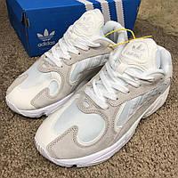 Кросовки Adidas ( Адидас ) Yung-1 Chalk White/Biege/Collegiate, (Реплика), фото 1