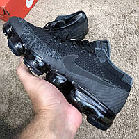 Nike Air Vapormax Black/Gray/Black, фото 1