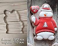 Высокопрочная Вырубка для пряника и печенья - снеговик, Вырубка 2д