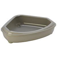 Туалет Moderna Cosy для кошек угловой, 55х45х14 см серый