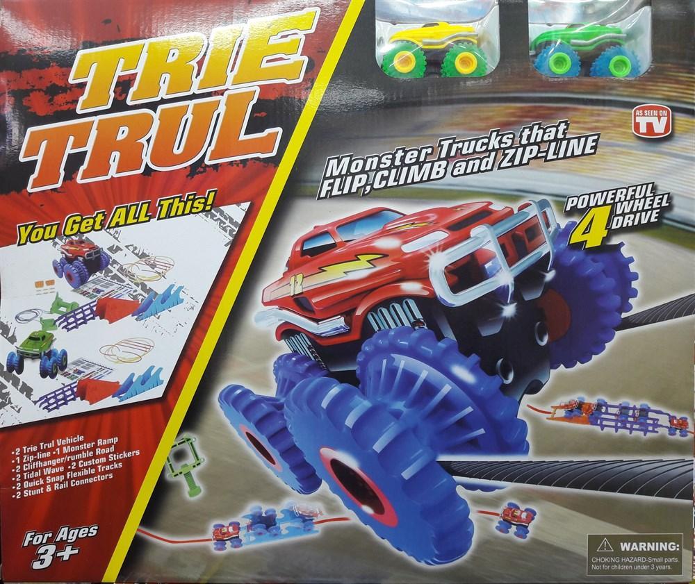 Трек канатный Trix Trux 2 машинки, машинка на верёвках, машинки Трикс Тракс, канатный трек, детский Track