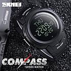 • Оригинал! Skmei(Скмей)1231 Black  Compass | Cпортивные часы с компасом!, фото 3