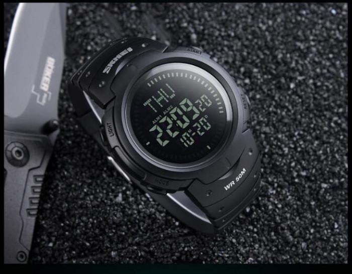 Cпортивные часы Skmei (Скмей) 1231 Black с компасом
