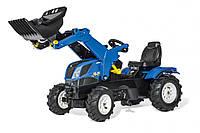 Педальный трактор с ковшом Farmtrac New Holland Rolly Toys 611270