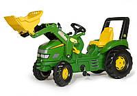 Педальный трактор с ковшом X-Trac John Deere Rolly Toys 46638
