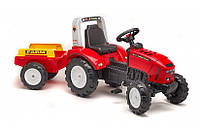 Педальный трактор с прицепом Red Lander Falk 2020A, фото 1