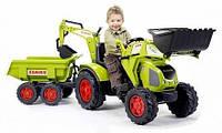Педальный трактор с прицепом и 2 ковшами Claas Axos Falk 1010Z