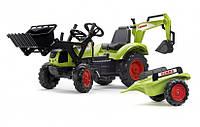 Педальный трактор с прицепом и 2 ковшами Claas Falk 2070Y, фото 1