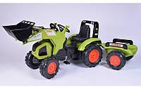 Педальный трактор с прицепом и ковшом Claas Falk 1011AM, фото 1
