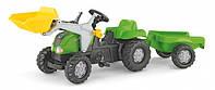 Педальный трактор с прицепом и ковшом rollyKid-X Rolly Toys 23134