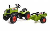 Педальный тракторс прицепом Claas Arion 410 Falk 2041C