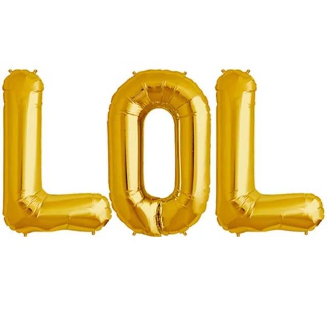 Набір літер LOL золото, 40 див. лялька лол