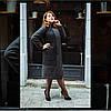 """Женское стильное пальто """"Комби"""", 48 - 62 рр, серый"""