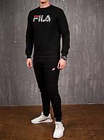 Мужской зимний спортивный костюм Fila Black, фото 1