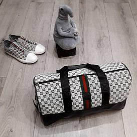 Мужская дорожная сумка Gucci белая Шикарное качество Турция