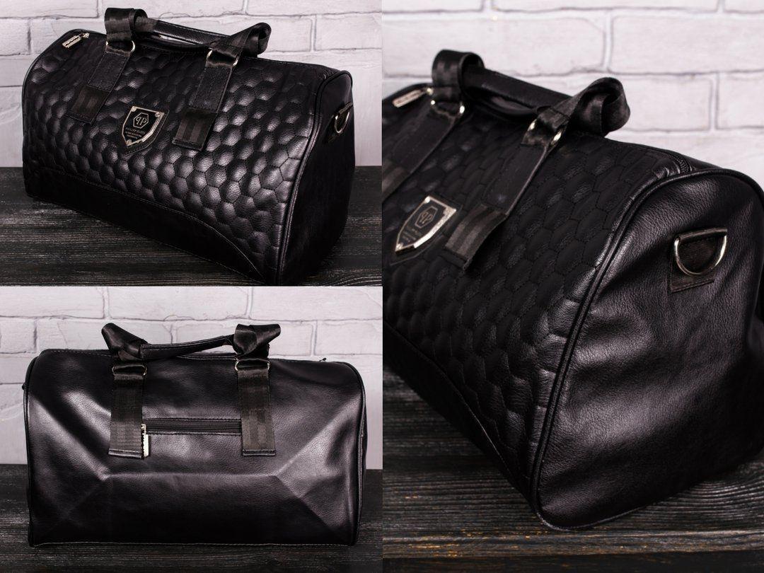 Мужская дорожная сумка PHILIPP PLEIN чёрная Шикарное качество Турция