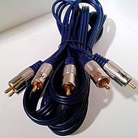 Кабель межблочный 3RCA-3RCA Nicel-Platinum HQ, 3.0m