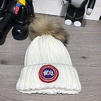 Canada Goose Knitted Pompon Melange White, фото 1