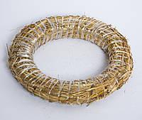 Кольцо-основа для новогоднего веночка 35 см, из натурального сена