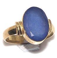 Сапфир кольцо 18,5 размер, перстень с камнем сапфир в серебре. Кольцо с сапфиром., фото 1