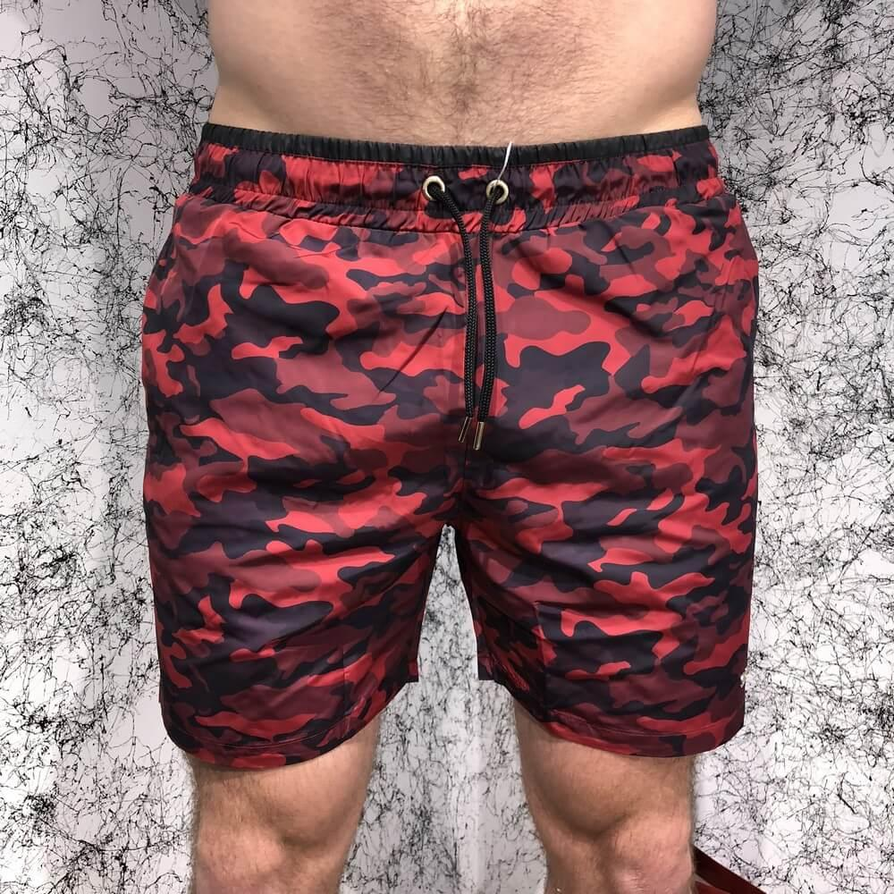 Valentino ( Валентино ) Swimming Trunk Camouflage Print Bordo, (Реплика)