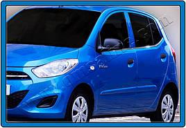 Окантовка стекол (6 шт, нерж.) - Hyundai I-10 2014-2017 гг.