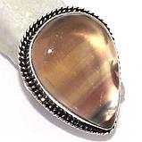Флюорит серьги с натуральным флюоритом в серебре Индия, фото 6