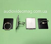 Кольцо-держатель для телефона, смартфона, металлическое, цвет - черный, фото 1