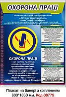 Плакат з охорони праці на банері з направляючими Код-08779