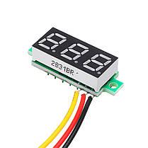 3Pcs Geekcreit® Blue 0.28 дюймов 3.2V-30V Миниатюрный измеритель напряжения вольтметра Voltmeter 1TopShop, фото 2