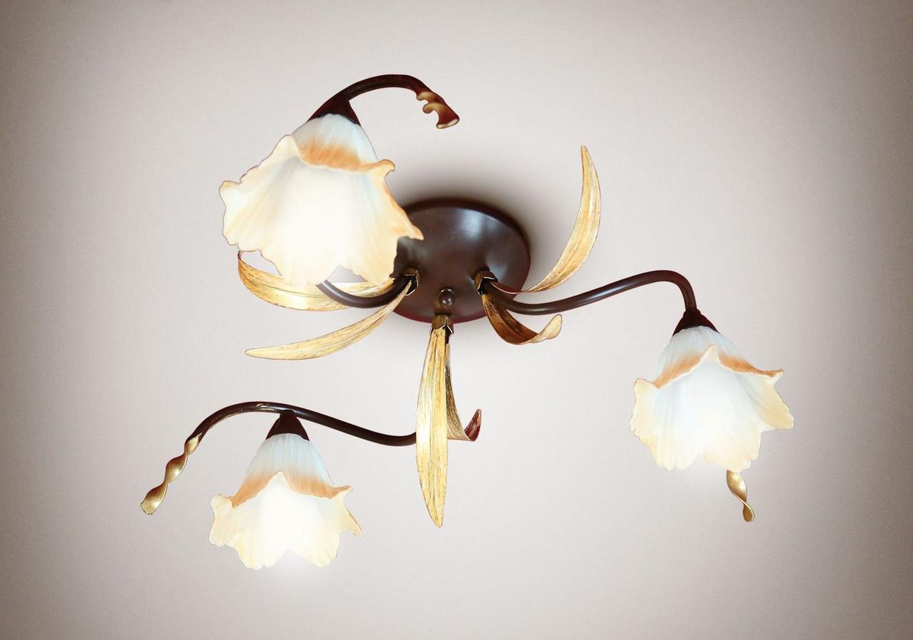Люстра 3-лампова, для спальні, для вітальні, кухні 15133