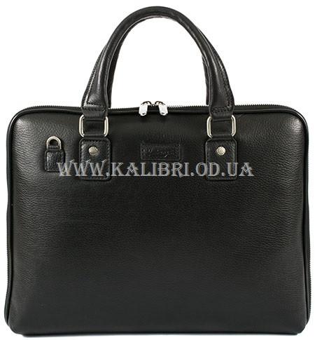 2d9b4689fa8e Мужская деловая сумка через плечо и в руку кожа Karya 0649-45 черный Турция  -