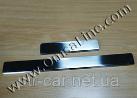 Накладки на пороги OmsaLine (4 шт, нерж.) - Honda Civic Sedan VIII 2006-2011 гг.