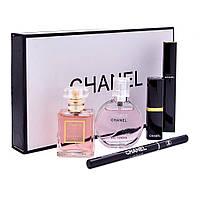 Подарочный набор парфюмерии Chanel Present 5 в 1, набор CHANEL, косметический набор, набор помад